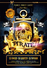 Pirate Party Event – Flyer PSD Template
