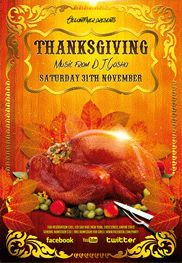 Thanksgiving Day – Flyer PSD Template + Facebook Cover