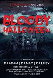 Bloody Halloween – Flyer PSD Template + Facebook Cover