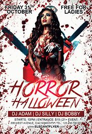 Halloween Night – Flyer PSD Template + Facebook Cover