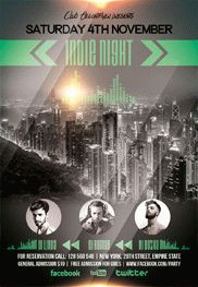 Indie Night – Flyer PSD Template