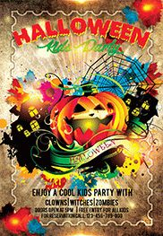 Halloween Zombie Night – Flyer PSD Template + Facebook Cover