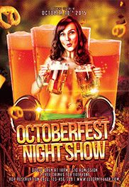 Octoberfest Night Party – Flyer PSD Template