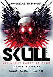 Skull Dark Party – Flyer PSD Template
