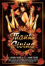 Thanksgiving Bash – Flyer PSD Template + Facebook Cover