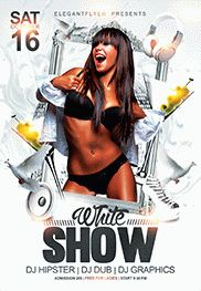 White Show – Flyer PSD Template