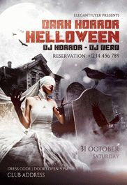 Halloween Night Party Poster in PSD