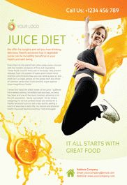 Juice Diet – Flyer PSD Template