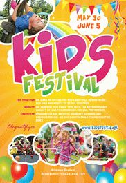 Kids Festival – Flyer PSD Template