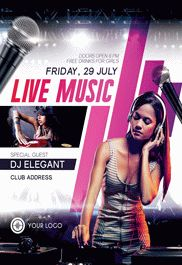 Hip Hop Party – Premium Club flyer PSD Template
