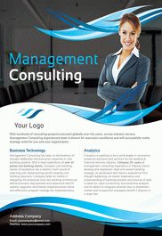 Management Consulting – Flyer PSD Template