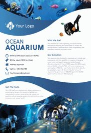 Ocean Aquarium – Flyer PSD Template