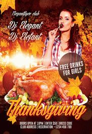 Thanksgiving Day 3 – Flyer PSD Template + Facebook Cover