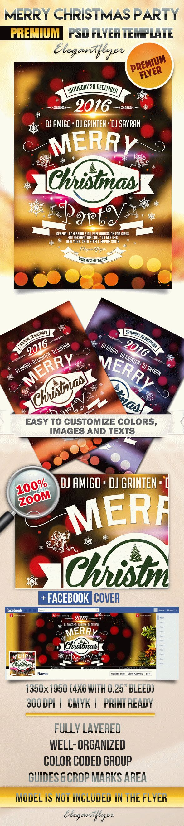 Merry Christmas Party – Flyer PSD Template