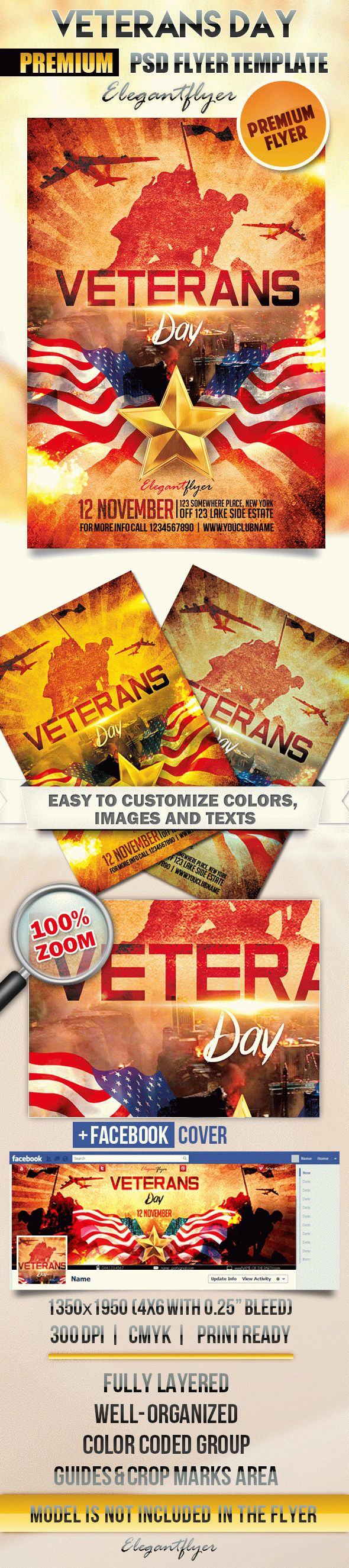 Veterans Day Parades Flyer Template