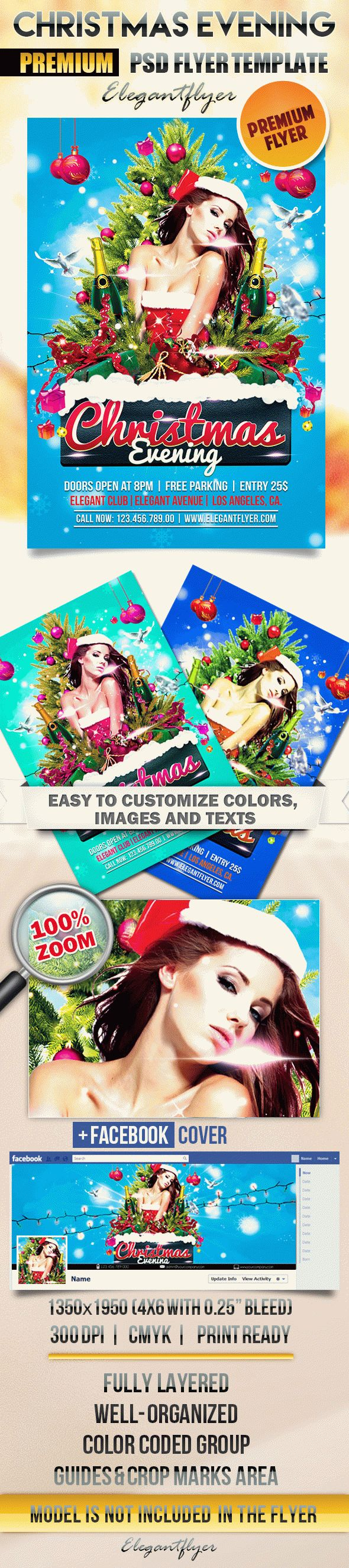 Christmas Evening – Flyer PSD Template