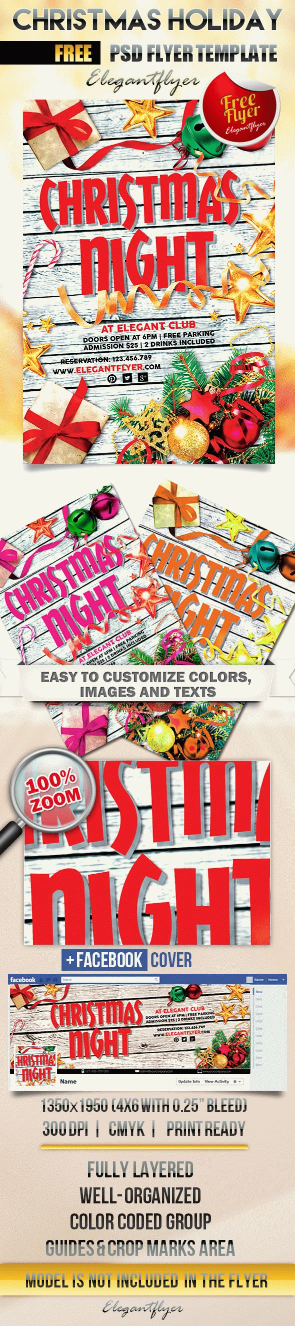 christmas holiday flyer psd template facebook cover by christmas holiday flyer psd template facebook cover