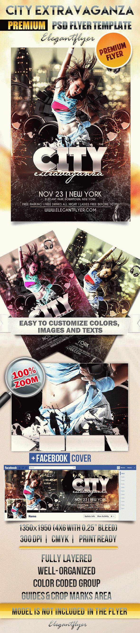 City Extravaganza – Flyer PSD Template
