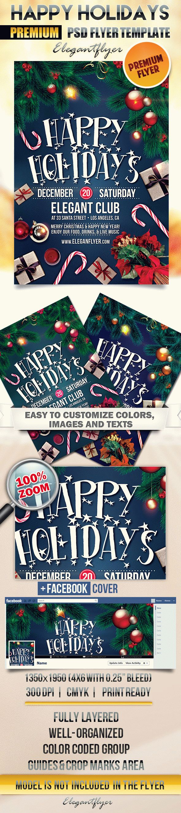 Happy Holidays Flyer Template Free Eve Flyers Prev Next