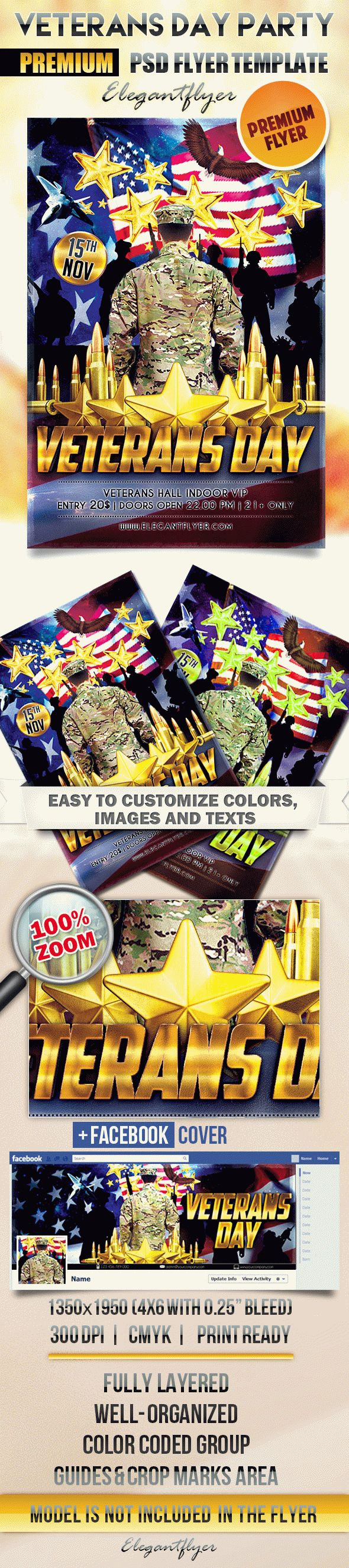 Veterans Day Party – Flyer PSD Template