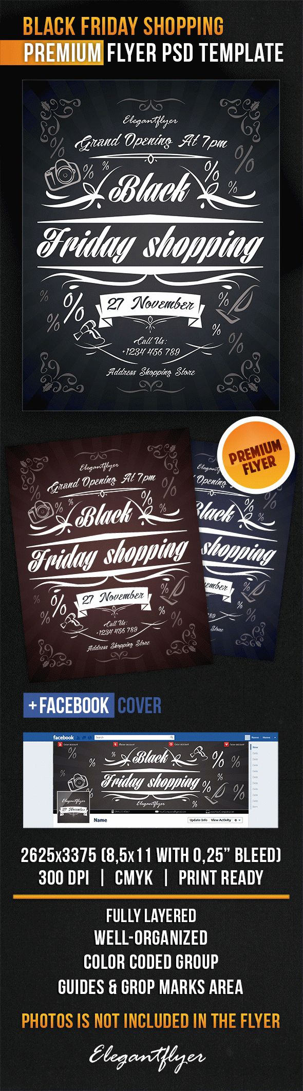 Black Friday Shopping – Flyer PSD Template