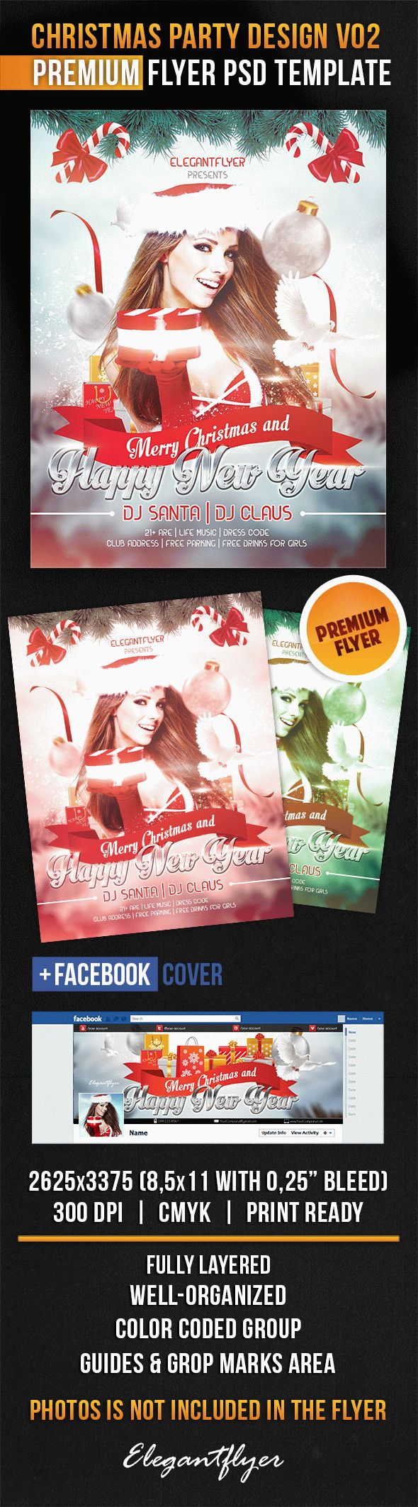 Christmas Party Design V02 – Flyer PSD Template