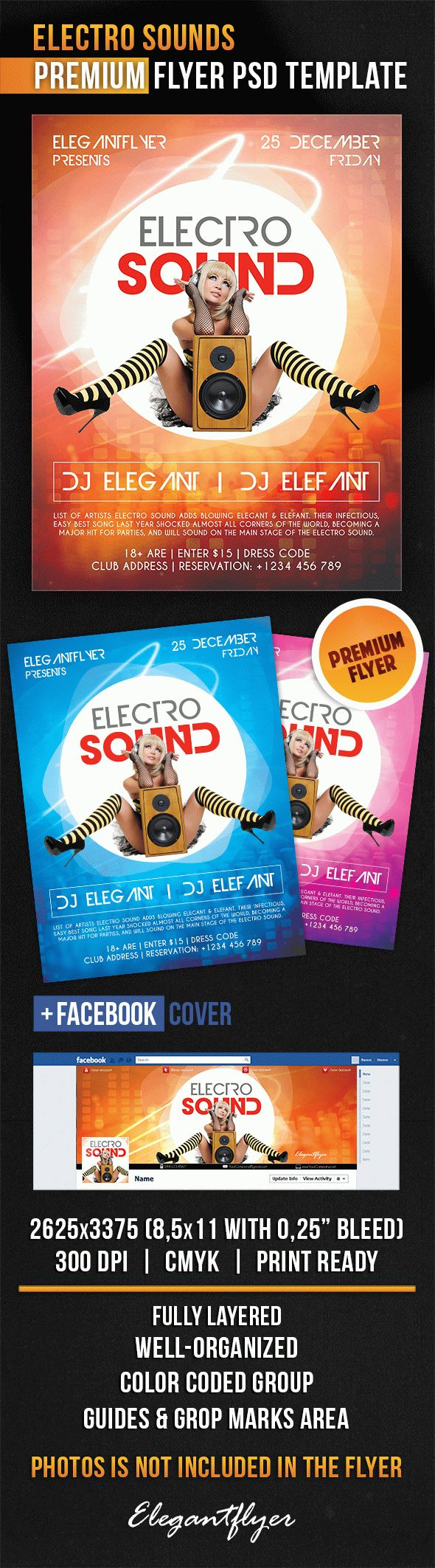 Electro Sounds – Flyer PSD Template