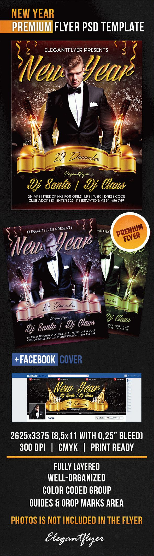 New Years Eve Guest PSD Template