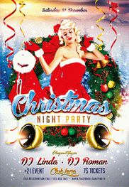 Christmas Party – Flyer PSD Template + Facebook Cover