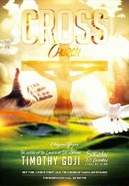 Church Cross – Flyer PSD Template + Facebook Cover