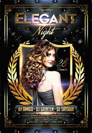 Luxury Elegant Party – Flyer PSD Template