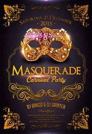 masquerade carnival party flyer psd template by elegantflyer