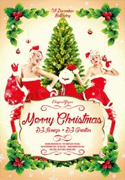 Merry Christmas – Flyer PSD Template + Facebook Cover