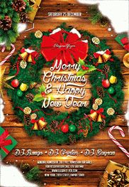 Happy Holidays – Flyer PSD Template + Facebook Cover