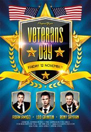 Veterans Day Celebration – Flyer PSD Template + Facebook Cover