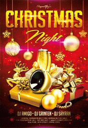 Flyer For Christmas Night Party