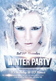 Winter Party 2 – Flyer PSD Template
