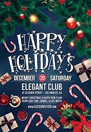 Christmas Holidays – Flyer PSD Template