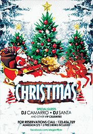 Merry Christmas – Free Flyer PSD Template