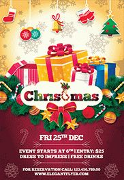 Happy Merry Christmas – Flyer PSD Template