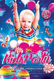 Kids Birthday Party PSD Template