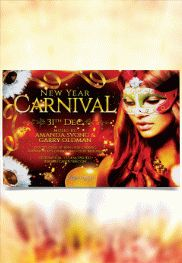 Carnival Party – Free Flyer PSD Template + Facebook Cover