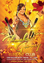 Thanksgiving Party – Flyer PSD Template + Facebook Cover
