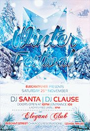 Winter Christmas Party – Premium Club flyer PSD Template