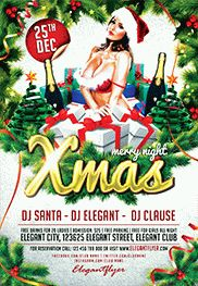 Sexy Santa Party – Flyer PSD Template + Facebook Cover