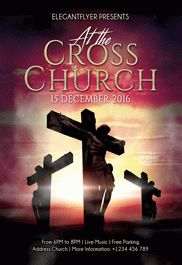 At the Cross Church – Flyer PSD Template + Facebook Cover