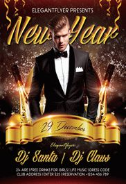 New Year Eve – Free Flyer PSD Template + Facebook Cover