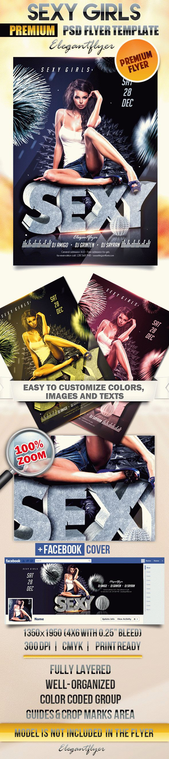 Sexy Girls – Flyer PSD Template