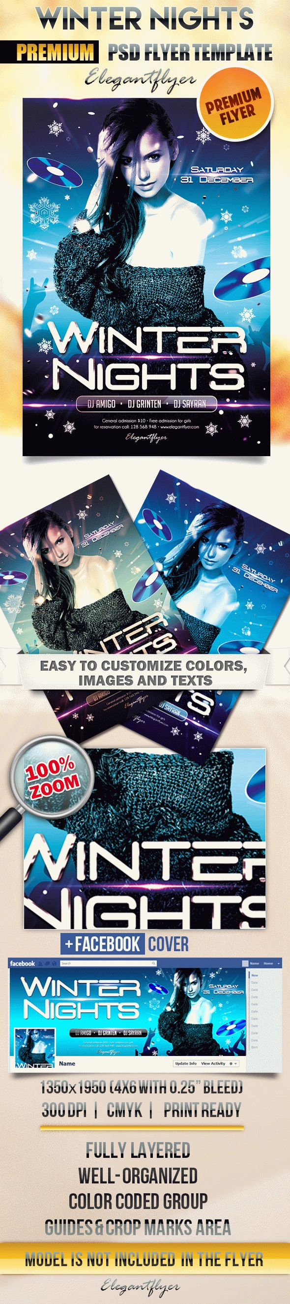 Winter Nights – Flyer PSD Template