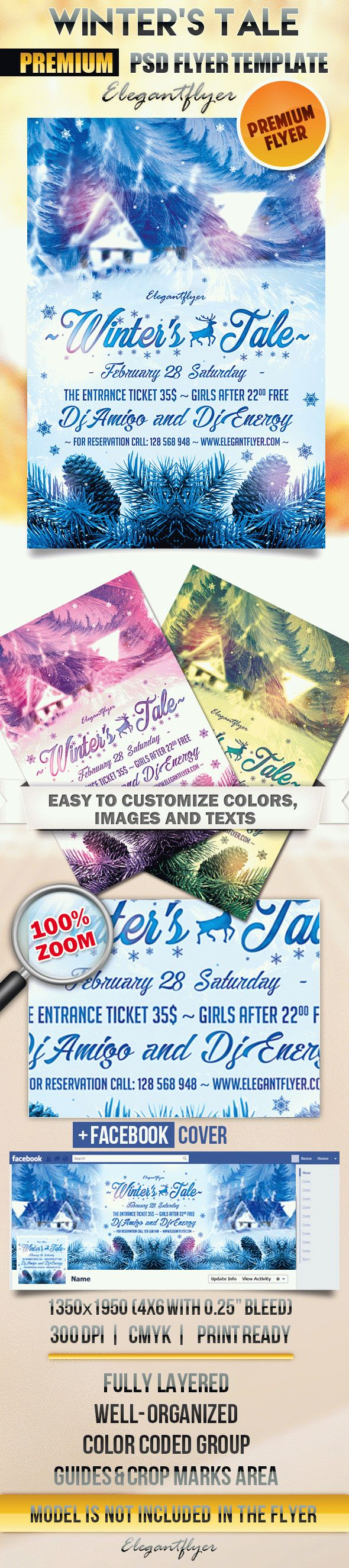 Winter's Tale – Flyer PSD Template + Facebook Cover